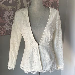 Cupcakes and Cashmere lace blazer NWT